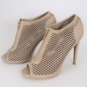 Steve Madden Perforated Vegan Leather Spike Heels